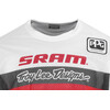 Troy Lee Designs Sprint Air SRAM TLD Fietsshirt lange mouwen Heren Racing rood/wit